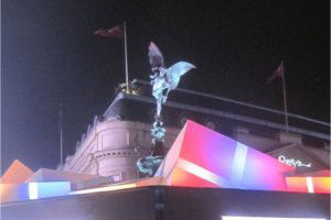 Piccadilly Circus at Christmas by juliamaud - treasure hunts in london